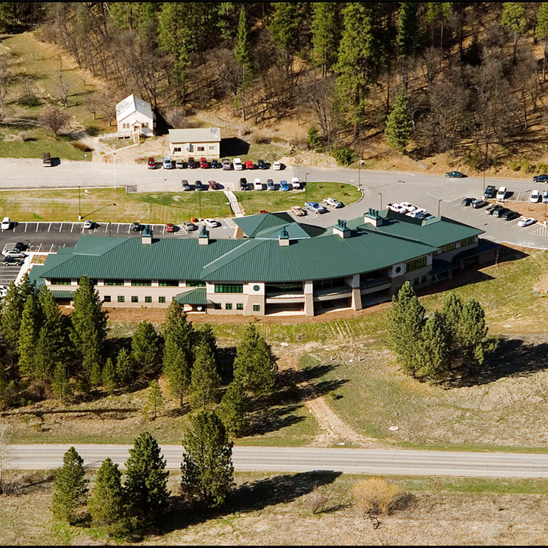 Plumas Co Health&Human Services, Quincy, CA - aerial view