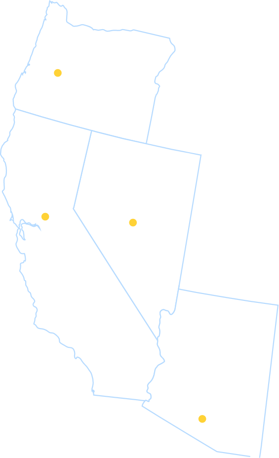 BCM Service areas include California, Oregon, Arizona, Nevada